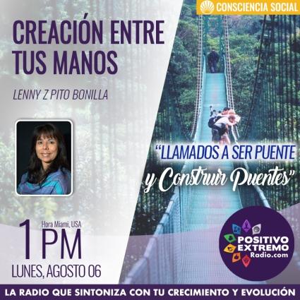 CREACION ENTRE TUS MANOS LUNES AGOSTO 06