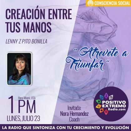 CREACION ENTRE TUS MANOS LUNES JULIO 23