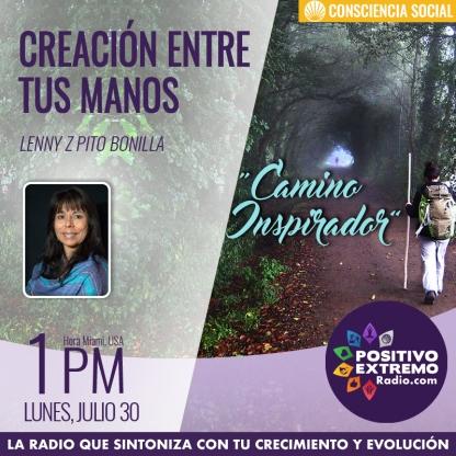 CREACION ENTRE TUS MANOS LUNES JULIO 30