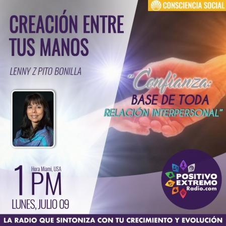 CREACION ENTRE TUS MANOS LUNES JULIO 9