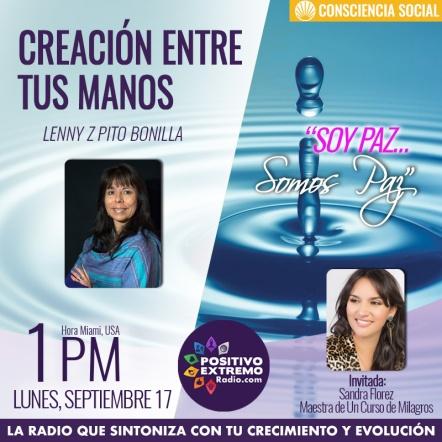 CREACION ENTRE TUS MANOS LUNES SEPTIEMBRE 17