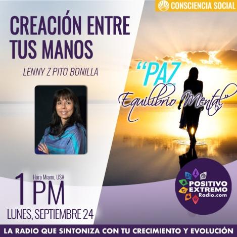 CREACION ENTRE TUS MANOS LUNES SEPTIEMBRE 24