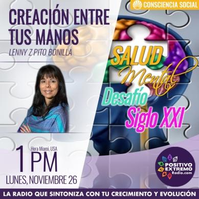 CREACION ENTRE TUS MANOS LUNES NOVIEMBRE 26